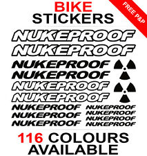 Nukeproof decals stickers sheet (cycling, mtb, bmx, road, bike) die-cut
