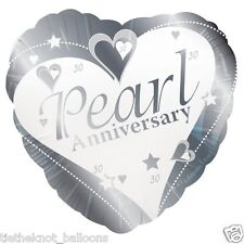 "PEARL WEDDING ANNIVERSARY 18"" FOIL BALLOON 30 YEARS 30th ANNIVERSARY"
