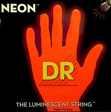 DR Neon Hi-Def Red NRB5-45 Bass Guitar Strings 45-125 FREE US SHIPPING 5 String