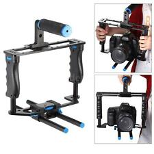 Aluminum Video DSLR Camera Cage Kit with Handle Grip 15mm Rod for DSLR X6Y7