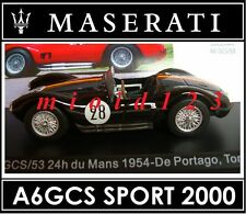 1/43 - Maserati 100 Years Collection : A6GCS SPORT 2000 #28 24h LeMans [1954]