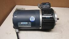 LEESON C6T17NC2F 1/2HP ELECTRIC MOTOR 208-230V 3PH WARNER EUM 100-1020 BRAKE