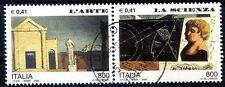 ITALIA 2000 - L'ARTE -  LA SCIENZA  -  DITTICO USATO