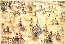 (PRL) GARA MOTOCROSS RACE SPORT VINTAGE ANNI '70 POSTER ART PRINT COLLECTION
