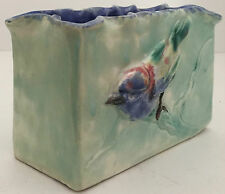 CASTLE HARRIS (AUSTRALIAN POTTERY) TROUGH DECORATED WITH TWO APPLIED BIRD in EXC
