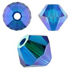Swarovski Crystal Bicone. Capri Blue 2X Color. 4mm. Approx. 144 PCS. 5328