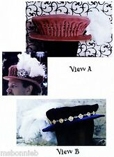 Men's Elizabethan Italian Bonnet / Hat sizes S-XL Lynn McMasters Sewing Pattern