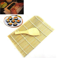 Sushi Rolling Maker Bamboo Material Roller DIY Mat and A Rice Paddle New