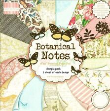 DOVECRAFT BOTANICAL NOTES PAPERS 6 X 6 SAMPLE PACK - NEW RELEASE - 16 SHEETS