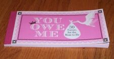 BABY....you owe me STORK FAVOR BOOKLET W/COUPONS 4-30 FAVORS # 1X135