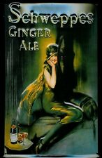 Schweppes Ginger Ale Motif 2 Metal Tin Plate Sign Tin Sign 7 9/10x11 4/5in