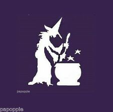 Stencil Primitive Witch Stirring Brew Stars Halloween