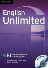 English Unlimited Pre-intermediate Self-study Pack (Workbook with DVD--ExLibrary