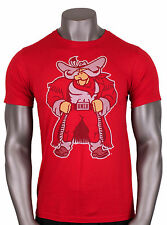 ADIDAS UNLV Running Rebels Mascot Logo T-Shirt sz S Small Red Las Vegas NEW