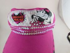 Awesome Minnie Mouse Cap  Hot Pink and Sequined Disneyland Resorts Small