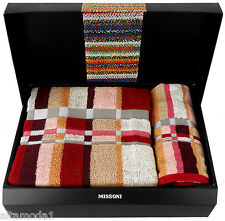 MISTER 156 MISSONI COFANETTO SET 2 ASCIUGAMANI -GIFT BOX 2 TOWELS SET полоте́нце