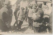 CARTE POSTALE / POSTCARD / GUERRE 1914 INTERROGATOIRE D'UN PRISONNIER PRUSSIEN