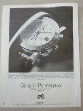 ADVERTISING PUBBLICITA' Cronografo GP 7000 GIRARD-PERREGAUX    -- 1989