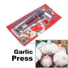 Kitchen Home Tool Aluminum Sturdy Garlic Mincer Garlic Ginger Press Crusher New