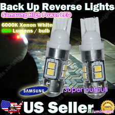 2 pcs 912 921 906 Samsung 11w Super Bright LED Lights Projector Lens White #U1