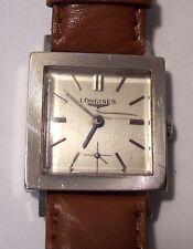 Longines 370 14k white gold watch wristwatch running c.1966