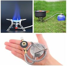 GAS STOVE Folds Down for Camping Gas Fishing Burner Outdoor Cooking Split