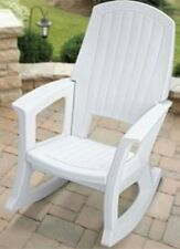 Outdoor Patio Rocking Chair Plastic Chairs Resin Rocker 600 lb Capacity Durable