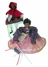 LOT of 2 Daddy's Long Legs Black Americana Dolls Bo Peep & Little Red