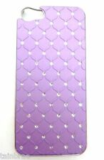iPhone 5 Lilac Hard Back Chrome Case with Bling Diamantes