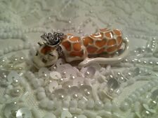 Retired Signed Enamel Kenneth Jay Lane Leopard Brooch Pin