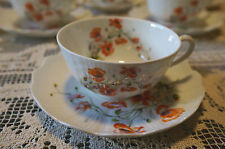 Giraud Limoges Wild Rose 6 ounce tea cup and saucer set