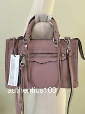 $225 NEW REBECCA MINKOFF MICRO REGAN LEATHER SATCHEL CROSSBODY VINTAGE PINK