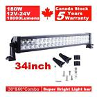 34inch 180W Led Work Light Bar Spot Flood Combo Work Driving Atv Ute Suv Offroad