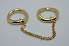 JULES SMITH 14k Yellow Gold Plated Chained to You Ring sz 6 $75 NEW