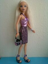 My Scene Club Birthday Barbie Doll Blonde Hair Original Clothes Purse & Shoes