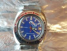 Ministerial Wostok Vos Space Rocket Amphibia Diver Automatic Watch 2416B USSR 54