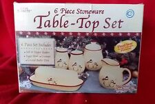 Royal Seasons Christmas Holiday Snowmen Stoneware Table Top Set Retired Dishes