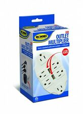 USB Outlet Multiplier 6 Wall Sockets 2 USB'S  Ports Multi Plug Phone Pad charger