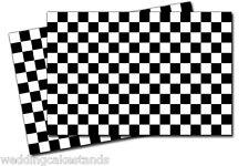 Checkered FLAG VINYL DECAL STICKER - 2 Pack DZ975