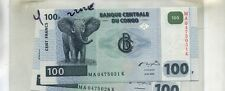 CONGO 100 FRANCS 2000 CURRENCY NOTE CU