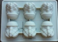 Star Wars Storm Trooper Chocolate Fondant Clay Jelly Silicone Soap Mold Molder