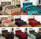 Luxury 3pcs Flock Quilted Bed Spread Bedspread Comforter Set Double Size King