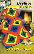 Patons Beehive AFGHANS FOR YOU #7433 1981 Crochet & Knitting 12 Designs