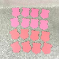 16 Antique Victorian Die Cut Shield Card Shape Table Place Setting Name Tag Pink