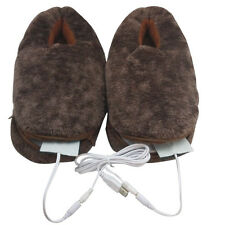 Stylish Plush USB Laptop PC Electric Heating Slippers Heated Shoes Foot Warmer