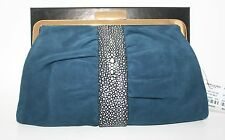 NWT NIP YSL YVES SAINT LAURENT PARIS OPERA SUEDE and STINGRAY CLUTCH