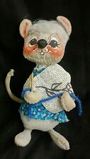 """Sewing Mouse Annalee Mobilitee Doll 6"""" Embroidery"""