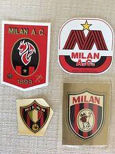 4 ADESIVI CALCIO A.C. MILAN SQUADRA ANNI '60 '70 '80