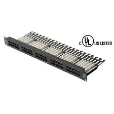 Steren 310-350 48 50 Port Patch Panel CAT5E 110-IDC High Density Configuration