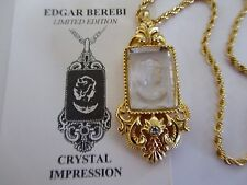 EDGAR BEREBI ~ Limited Edition ~ CRYSTAL IMPRESSION ~ Intaglio Pendant & Chain